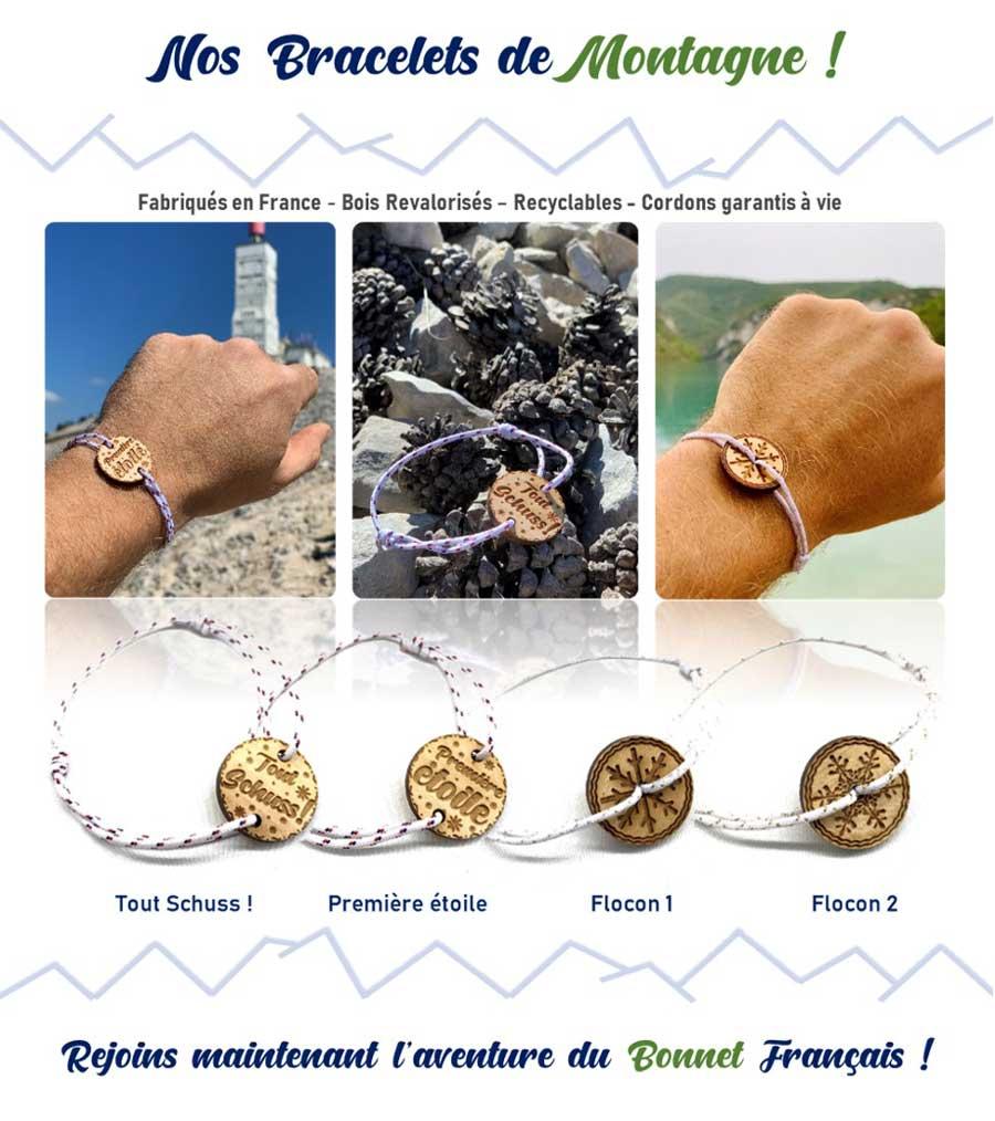 Les bracelets de montagne en bois