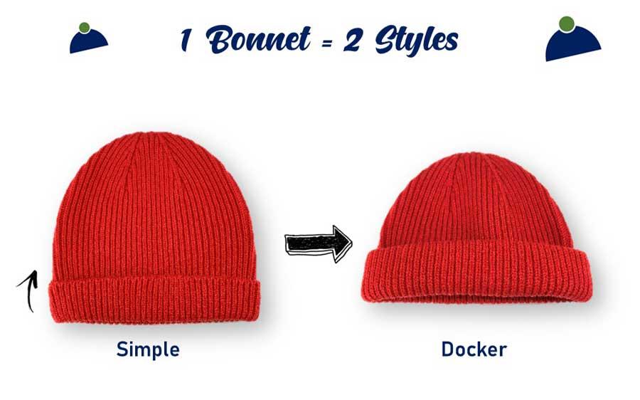 Un bonnet deux styles